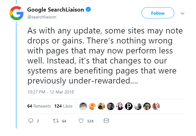 Google SearchLiaison's tweet
