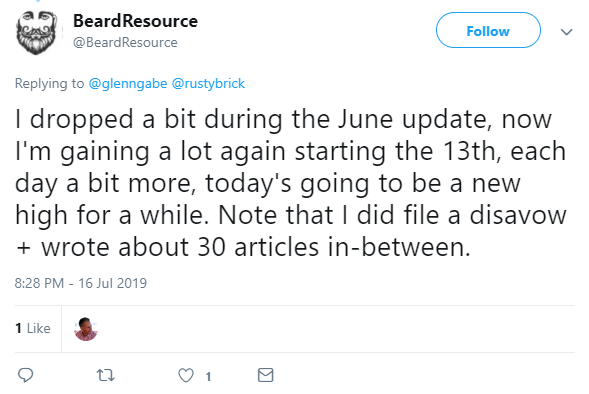 possible july algorithm core update