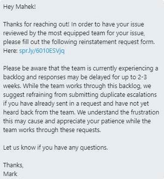 Google My Business Backlog