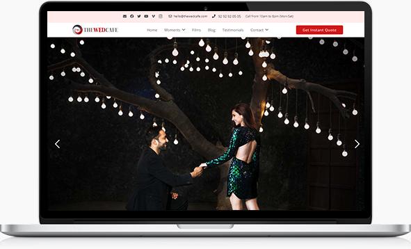 thewedcafe laptop screenshot