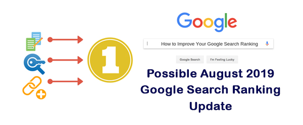 Possible August 2019 Google Search Ranking Update